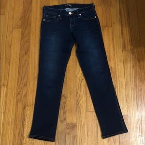 Express cropped jean leggings size 2R